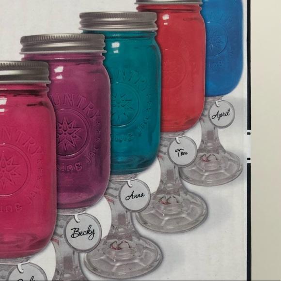 Down Home Country Kitchen Hillbilly Wine Glass Mason Jar W Wine Stem Poshmark
